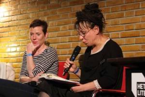 Tokarczuk leest uit hara werk tijdens City2Cities festival, Utrecht 2014.