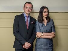 Gregorzj Jankovicz en Iryna VikyrchakFoto: Adrie Mouthaan
